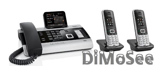 GIGASET DX600A ISDN-Basis inkl. 2x S850HX Mobilteile
