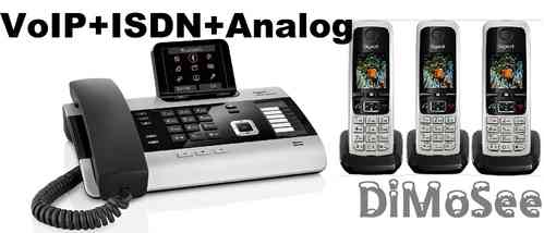 GIGASET DX800A Basis (VoIP, ISDN, Analog) all in one + 3 Mobilteile C430H