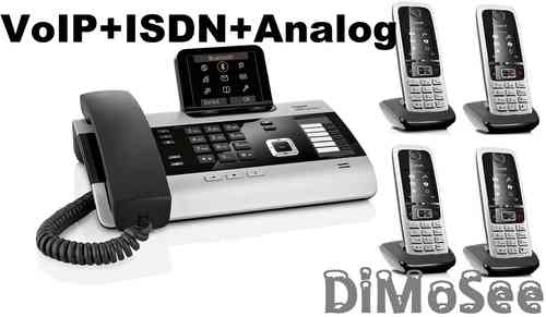 GIGASET DX800A Basis (VoIP, ISDN, Analog) all in one + 4 Mobilteile C430H