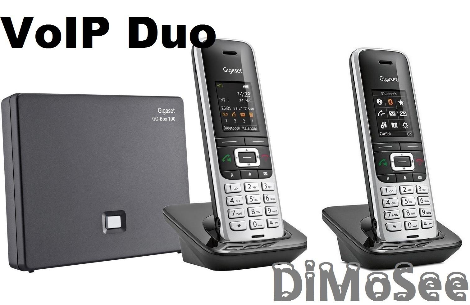 GIGASET S850 A Go m. AB / IP VoIP Telefon + S850HX Duo schnurlos Telefone S30852-H2625-B101