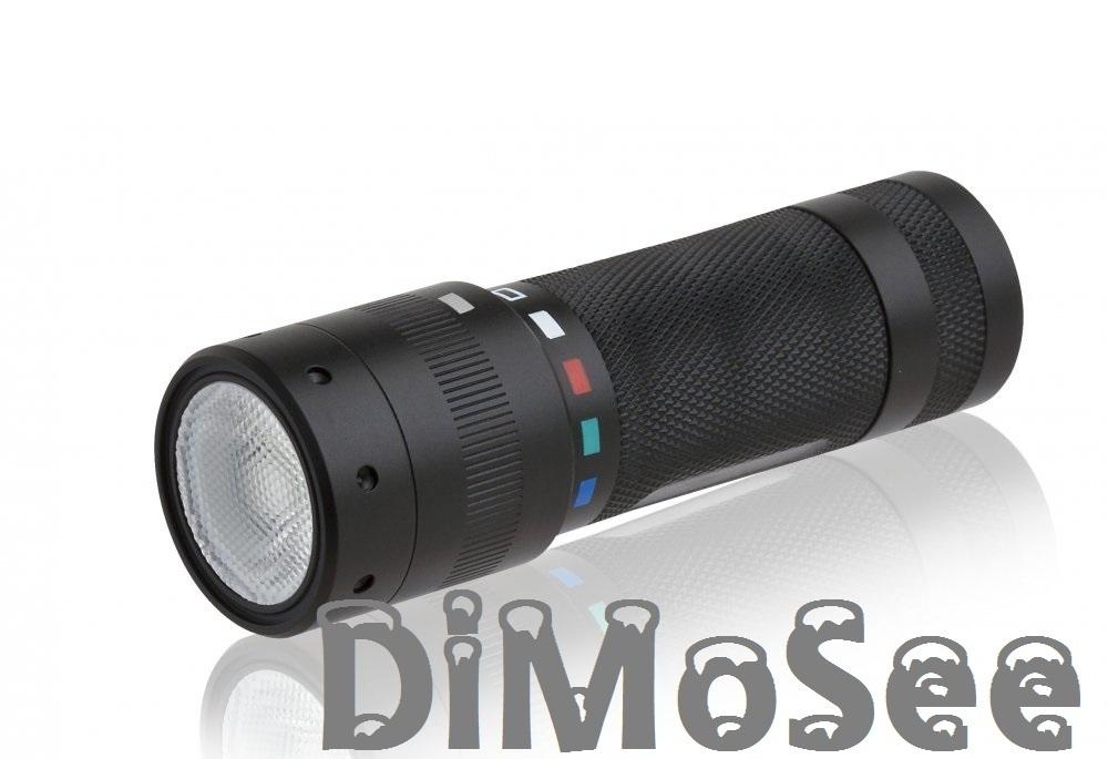 Zweibrüder LED T²QC taktische LED-Taschenlampe + Zugabe 2. Satz Batterien 9802-QC