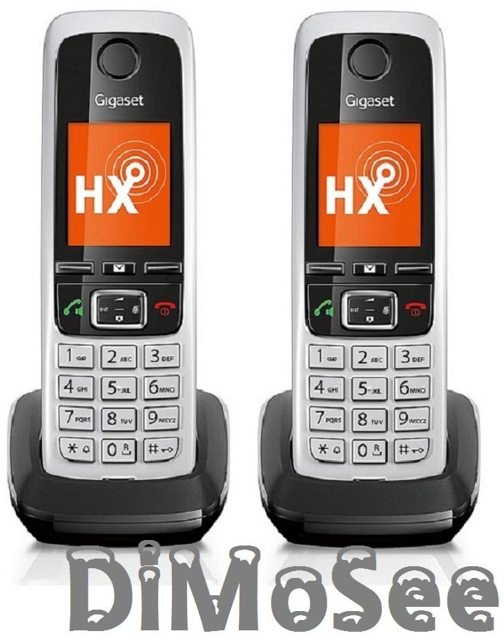 Gigaset C430HX Duo Mobilteile für Speedport, Fritzbox u. a. (CAT-iq) S30852-H2765-B101