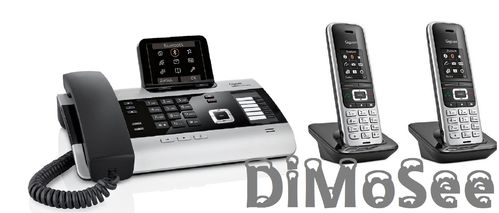 GIGASET DX800A Basis (VoIP, ISDN, Analog) all in one + 2 Mobilteile S850HX