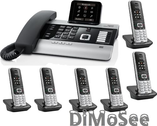 GIGASET DX800A Basis (VoIP, ISDN, Analog) all in one + 6 Mobilteile S850HX