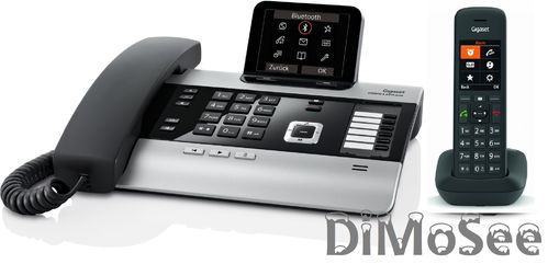GIGASET DX800A Basis (VoIP, ISDN, Analog) all in one + 1 Mobilteil C575HX