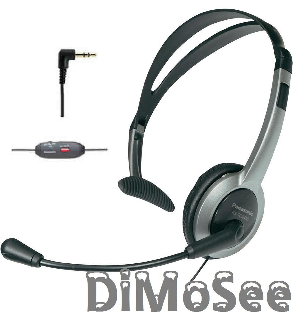 Panasonic Kabel-Headset für Gigaset C430 C620 S810 S850 DL500A DX600A DX800A u. a. RP-TCA430E-S