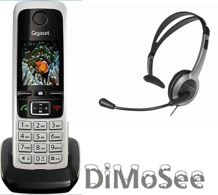 Gigaset C430H Mobilteil f. C430A, DL500A, DX800A u. a. inkl. Kabelheadset S30852-H2552-B101